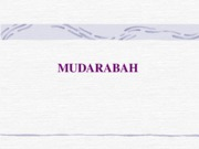 Session 13 Mudarbah