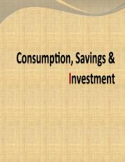 Consumption, savings and investment.ppt