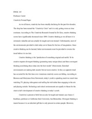 Creativity Formal Paper
