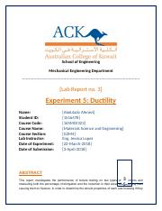 Experiment 5 - lab report 3 Ductility.docx