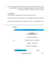 Managerial Accounting Tutorial 2