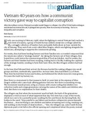 Vietnam 40 years on_ how a communist victory gave way to capitalist corruption _ News _ The Guardian