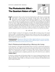 41 The Photoelectric Effect - The Quantum Nature of Light