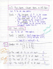 MATH 1ZC3 Column Spaces and Null Space Notes
