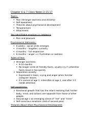 CH 7 Class Notes & Reading Notes