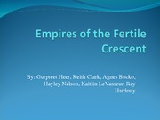 Empires of the Fertile Crescent1