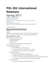 POL 202_International Relations
