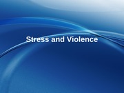 12 - Stress and Violence