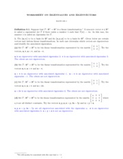 MATH 186 EIGENVALUES AND EIGENVECTORS