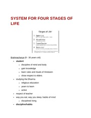 System for Four Stages of Life