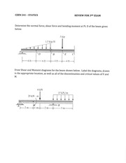Exam #3 Review Problems and Solutions