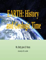 Earth History and Geologic Time