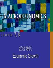 CHAP07&08 economic growth