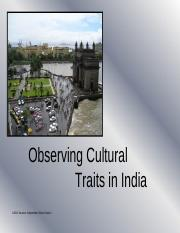 WGS_StudentVersion_PowerPoint_Observing Cultural Traits in India_Unit 5