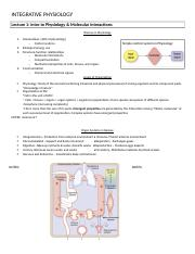 INTEGRATIVE PHYSIOLOGY-Chap 1&2