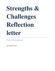GS1145 Strengths & Challenges Reflection Letter