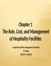 Ch 1-Role, Cost & MgmtHOS316-1
