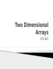 1.1.0 Two Dimensional Arrays.pptx