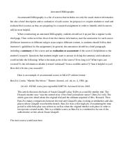 Annotated Bibliography-Trifles(1).doc