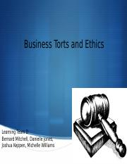 Business Torts_Ethics_Paper