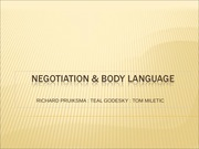 Negotiation _ Body language