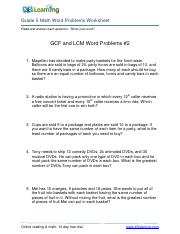 GCF-and-LCM-word-problems-2RGr5.pdf - Grade 5 Math Word ...