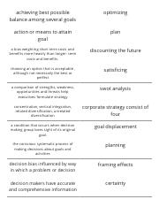 Print › Chapter 5 strategic planning and decision making _ Quizlet