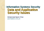 Lecture-7 Data and Application Security Issues