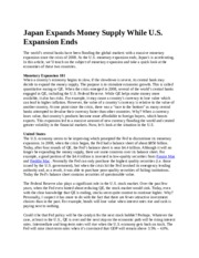 Japan Expands Money Supply While U