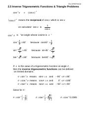 2-5 Inverse Trig Functions.doc