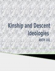 ANTH 101 CH 9 Kinship and Descent Ideologies