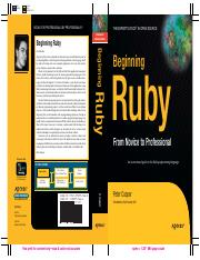 Apress - Beginning Ruby - From Novice to Professiona (2007).pdf