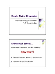 (4) South Africa Breweries