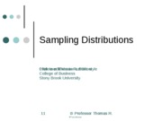 Chapter 8a Sampling Distributions