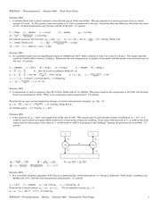 ENGI 2334 Final Practice Questions & Solutions