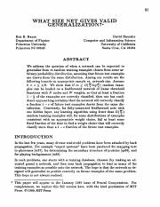 Baum, Haussler - 1989 - What Size Net Gives Valid Generalization