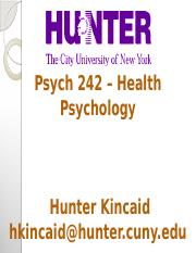 Lecture 1and2 - IntroAndHealth Psychology