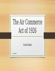 The Air Commerce Act of 1926
