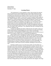 Teaching Theory paper