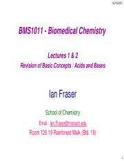 BMS1011  Lectures 1 and 2 1pp