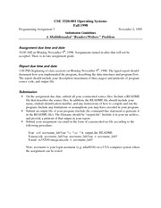 Lecture Notes F on Operating Systems