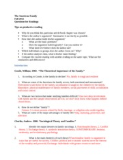 Reading outline  test 1The AMERICAN family