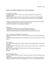 Chapter 2- The Modern Marketplace Lecture Notes