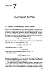 chapter 7 SCATTERING THEORY