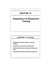 12 - CH10 - Adaptations to Resistance Training