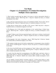 Test Bank Answers Ch 1-2 Foundations of Criminal Investigation.pdf