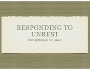 Responding to Unrest PPT