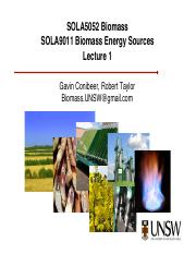 Lecture Biomass Week01, 2014 2