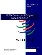 Resume WTO-COOL case (IL) Diana_Saron