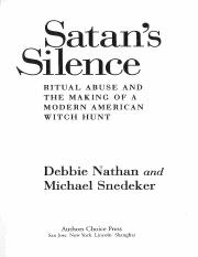Nathan and Snedeker, Satans Silence.pdf